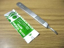 2 Scalpel Knife Handle #3 + 20 Sterile Surgical Blade #10