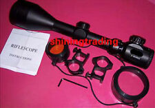3-9X56E R + G Hairscross ILLUMINATED Rifle scope with Free rings mount & Cover