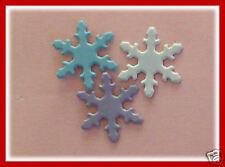 BRADS SNOWFLAKES - 27 Pk BULK 3 Colour 18mm Snowflake NEW Christmas Scrapbooking