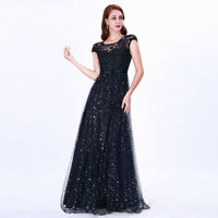 Ever-Pretty UK Lace Beaded Long Evening Party Dress A-Line Cocktail Holiday Gown