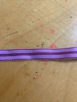 Vintage RIBBON Purple   ACETATE   Double Face   Yards Used P4