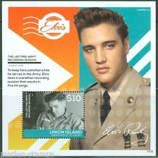 UNION ISLAND 2014 ELVIS PRESLEY LAST PRE ARMY RECORDING SESSION S/S MINT NH