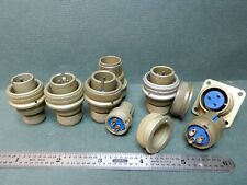 Amphenol 2 And 3 Pin Plugs And Sockets Misc Lot Shown