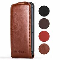 Snakehive® Apple iPhone 5/5S Premium Quality Handy Leather Flip Top Case Cover