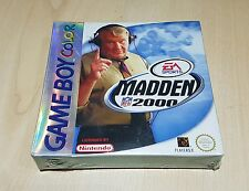 Madden 2000 NFL Game Boy Color Gbc Gba & Gba Sp Gameboy Color de sellado de fábrica