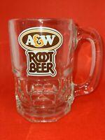 Vintage A & W Heavy Root Beer Glass Mug Cup Soda Pop
