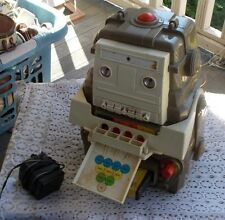 Vintage 70's Toy Trivia Robot 8 Track Player Mego Corp Type 2 2-XLTalking & Tape