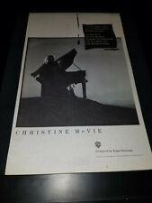 Christine McVie Got A Hold On Me Rare Original Radio Promo Poster Ad Framed