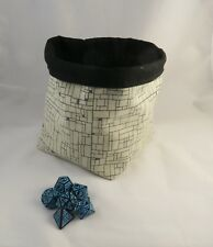 Square Dice Bag - Dungeon Tile D&D Bag - Reversible Cotton Bag - Tile Pouch Gift