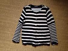 Sonia Rykiel gilet coton viscose soie velours rayures noir blanc L 40