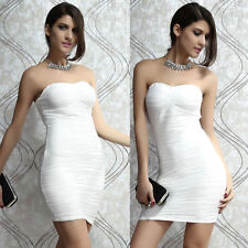 Satin Bandeau Party Peplum Dresses for Women