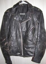 VINTAGE c. 1960's Leather ONE STAR MOTORCYCLE Gang / Club JACKET 40