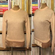 OTHER STORIES pink sheer knit mohair wool jumper sweater top XS UK 8 EU34