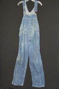 VINTAGE EARLY 1960'S OSH KOSH BRAND  BLUE DENIM OVERALLS SIZE MEDIUM