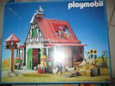 Playmobil ® Fachwerk Bauernhof 3716 + Bauanleitung + OVP Tiere Figuren Traktor