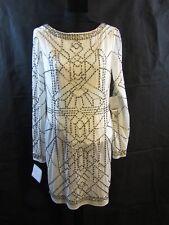 PLATINUM LAUNDRY by SHELLI SEGAL  Warm White Beaded Mini Dress Size 4 NWT