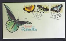 AUSTRALIA 2016 BUTTERFLIES Insects P&S Self Adhesive set of 3 on FDC - Wildlife.