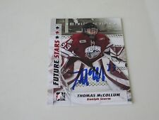 THOMAS McCOLLUM AUTOGRAPHED 2008 IN THE GAME BETWEEN THE PIPES FUTURE STARS CARD