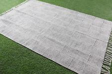 5x7.ft Indian Rug Handmade Modern Rug Floor Runner Carpet White Cotton Area Rug