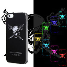 Pirate Skull Sense Changing Color Flash Light Led Hard Case Cover for Iphone5 5S