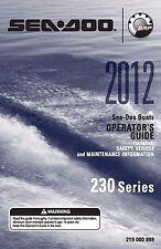 Sea-Doo Owners Manual 2012 230 Challenger & 2012 230 Wake