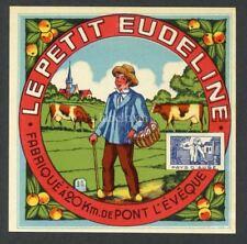 Original European Cheese Label, Cows, Basket, 628