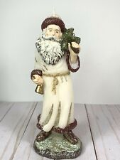"Father Christmas 8 1/2"" Tall Wax Candle"
