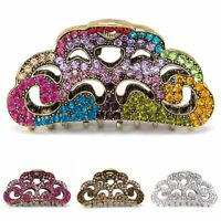 USA Woman Large elegant metal multi color rhinestone crystal hair claw Clip pin