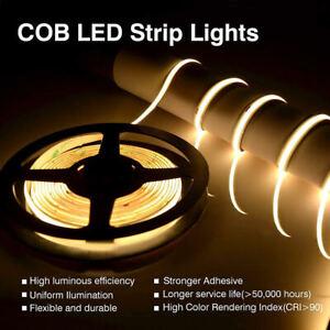 COB LED Strip (DC 24V, 9W/m, 5m/roll, IP33, Warm White 3000K