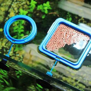 Water Plant Suction Cup Aquarium Feeding Ring Fish Tank Station Float Food Tray