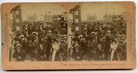 King Edward Coronation  London Vintage Royalty Stereoview Photo 1902