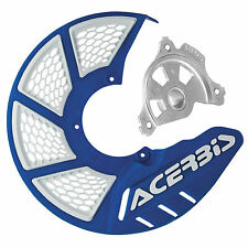 Acerbis X-Brake Vented Front Disc Cover with Mounting Kit Blue/White for