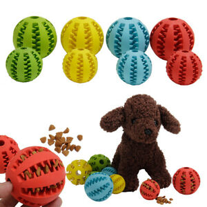 Pet Dog Puppy Rubber Ball Rubber Ball Teething Durable Treat Clean Chew Toy