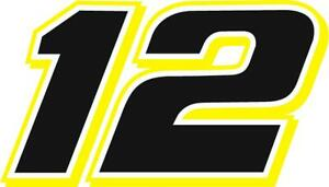 NEW FOR 2019 #12 Ryan Blaney Racing Sticker Decal Sizes SM-XL Various colors