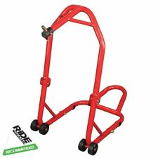Qtech Motorcycle Motorbike Rear Wheel Vee PADDOCK STAND for Bobbins Workshop Universal Fit with 200kg Lift Capacity Headstock Head Lift Head Track