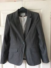 H&M - Grey Checked Single Breasted Blazer - Size 34 (8)