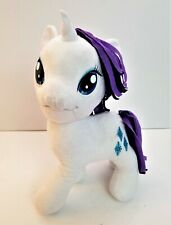 "My Little Pony plush Unicorn Rarity 13"" Hasbro White Purple Stuffed Animal 2013"