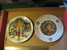 2 Vintage Royal Doulton Christmas Plates 1989 1987