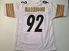 UNSIGNED CUSTOM Sewn Stitched James Harrison White Jersey - Extra Large