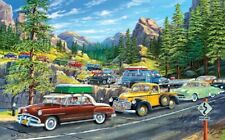 Jigsaw Puzzle Americana Car Truck Holiday Traffic Jam 300 pieces NEW made in USA