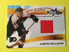 2001-02 Bowman Young Stars Fabric Of The Future Justin Williams Jersey