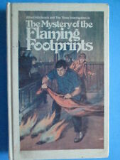 The Mystery Of The Flaming Footprints HB The Three Investigators   (pb3)