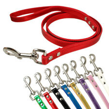 "Glitter PU Leather Dog Leash Dog Lead Length 48"" Black Red Pink Blue White Green"