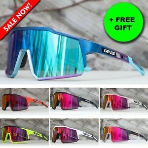 Polarized Glasses 4 Lens Cycling Goggles Outdoor Sunglasses UV Eyewear Men Women