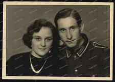 Foto-AK-Stuttgart-Studio-Portrait-Soldat-Wehrmacht-Frau-Woman-2.WK-