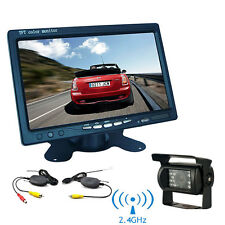 "7"" TFT LCD Monitor Car Rear View System Backup Reverse Camera Night Vision Kit~"