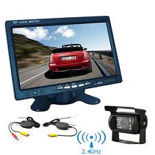 """7"""" TFT LCD Monitor Car Rear View System Backup Reverse Camera Night Vision Kit~"""