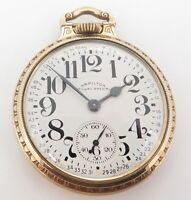 .1952 Hamilton 21 Jewel G/F OF Railroad Special Cal 992B Size 16 Pocket Watch