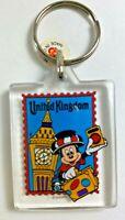 Vintage Walt Disney World UNITED KINGDOM UK Mickey Mouse Plastic Key Chain
