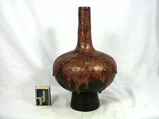 "Well shaped 70´s design otto ceramica pottery vaso with many ""LAVA"" Drops 25 cm"